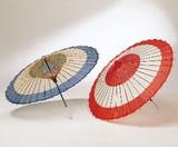 【インテリア】【什器・店舗備品・サイン】 助六傘【紺/赤】 <舞踊傘/イベント道具>