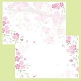 日本製 さくら咲く ミニレターセット さくら柄