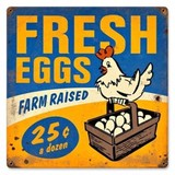 【スティールサイン】【フード&ドリンク】Fresh Eggs<看板> ★アメリカ製★
