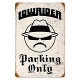 【スティールサイン】【カー&ガレージ】Lowrider Parking<看板>★アメリカ製★