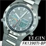 ELGIN(エルジン)ワ−ルドタイムチタンソーラー電波ウォッチ FK1390TI-BP