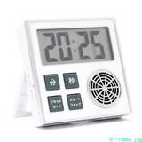 【信頼のOHMブランド】時計機能付き お知らせタイマー ホワイト COK−TT1−W