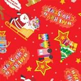 クリスマス包装紙 トイサンタ赤 半才判/全判