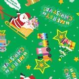 クリスマス包装紙 トイサンタ緑 半才判/全判