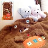 【かわいいクマのタオルひざかけブランケット♪】モコモコベアー