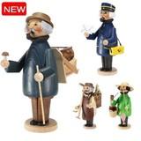 【全4種類が追加発売】ドイツのマスターが作り出す手作りの人形香炉◆パイプ人形◆ミニ