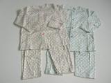 スムース小花柄パジャマ(日本製)