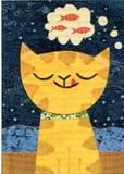 MADISON PARK GREETINGS グリーティングカード バースデー用 <猫×魚>