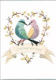 MADISON PARK GREETINGS グリーティングカード 結婚祝い用 <鳥×ハート>