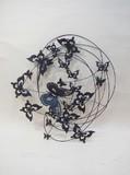 【直送可】モダンテイスト ウォールアート壁飾り 蝶