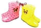 ☆くまのがっこう☆レインブーツ☆長靴☆イエロー・ピンク☆