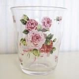 【ローズヴィーナス】ガラスタンブラー<日本製><花柄・バラ柄>