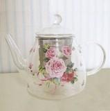 【ローズヴィーナス】耐熱ポット<日本製><花柄・バラ柄>