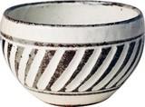 丸子呂の碗 流れ彫(まるころのわん ながれぼり)