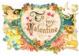 PUNCH STUDIO バレンタインスモールグリーティングカード <フラワー×天使>