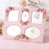 ローズフォトフレーム 5窓 (ピンク)