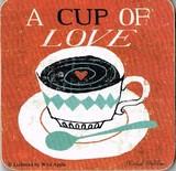 creative tops  コースター  コーヒー.カップ.ハート.LOVEモチーフ *ポストカードコースター