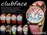 Band Dress Watch Multi-Color Big Face clubface Ladies Wrist Watch
