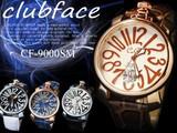 【人気商品♪】革バンド メンズウォッチ プレーンタイプ ビッグフェイス メンズ腕時計 CF-9000SMP