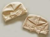 【定番】【日本製】オーガニックカットソー ベビーリボン帽子<オーガニックコットン>