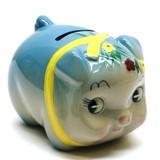 花豚バンク ブルー キュートなぶたの貯金箱