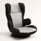 【直送可】【コロネ】フロアチェア座椅子<リクライニング座椅子 グレー/ブラウン>