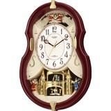 新品特価! リズム時計製電波掛時計 スモールワールドコンチェルDX 4MN495RH06