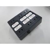 【配線タップ】個別スイッチ付ウォールタップ6個口(ブラック/ホワイト)