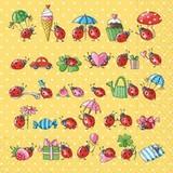 Paper Napkin Ladybugs Heart