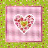 Paper Napkin Flower Heart Checkered