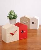 飛び出す小鳥が愛らしい!置き掛け兼用のハト時計 BRUNOクックーツインハウスクロック