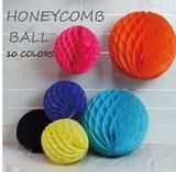 2サイズ10色展開の色、サイズが選べるハニカムボール!