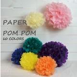 2サイズ15色展開の色、サイズが選べるペーパーポンポン!