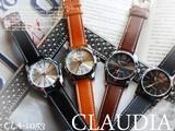 クォーツ⇒メンズウォッチ シンプル シルバーラウンド腕時計 -CLAUDIA- CLA-1053