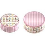 creative tops ティンボックス ケーキモチーフ 2サイズ 1セット 収納丸缶