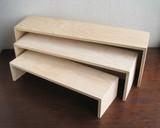 【直送可】【什器・店舗備品】【インテリア】木製卓上什器  HPミニネストディスプレイセット <無塗装>