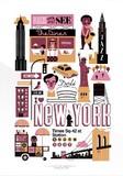 【Lagom design】 都市柄アートプリント NEWYORK(ニューヨーク)