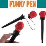 パンチングボールペン * おもしろモチーフのペンです♪