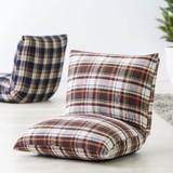 【Light Furniture】チェック カックンリクライナー 座椅子