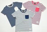 【SALE】【2015年春夏新作】<即納><キッズ/ボーイズ>ポケット付ボーダー半袖Tシャツ