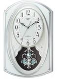 新品特価! リズム時計製電波掛時計スモールワールドポラール 4MN504RH05
