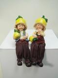 【直送可】ディスプレイとしてかわいい♪ 置物 お座り人形 グレープフルーツ 2SET