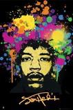 ■ポスター■610X915mm★ Jimi Hendrix Splatters