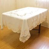 【再入荷】高級コード刺繍テーブルクロス リボン&ローズシリーズ