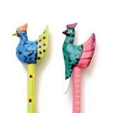 【ELSA Animals】木製アニマル鉛筆 クジャク