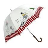 【moomin雨傘】ムーミン8駒柄傘