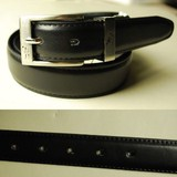 【メンズ用】牛革のベルト(ブラック)Lsize:AT383-05【TROY BROS】