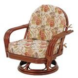 【直送可】【RATTAN CHAIR】回転座椅子 RZ-932(送料無料)