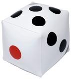 ☆ちょっとサイコロの形のビーチボール!☆サイコロボール(ホワイト)