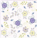 Paper Napkin Flower Stripe